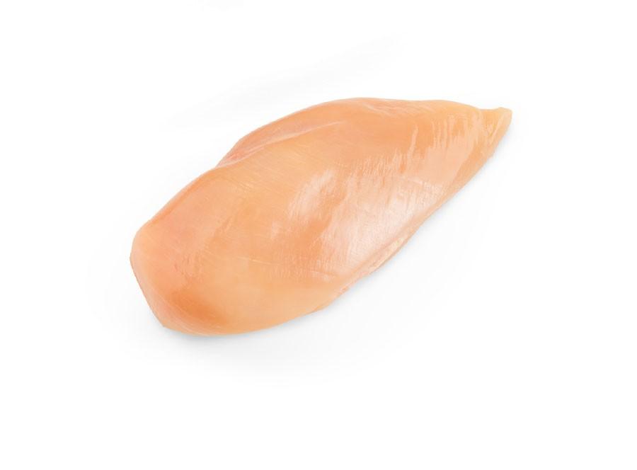 Poitrines de poulet désossées sans peau