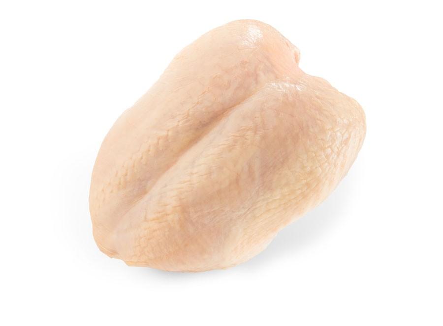 Poitrines de poulet avec os